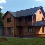 скачать готовый проект загородного дома из бруса бесплатно