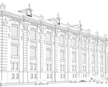 3D моделирование зданий.